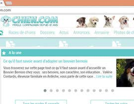Nro 50 kilpailuun Design a (simple) logo for an editorial website about dogs käyttäjältä ryakou