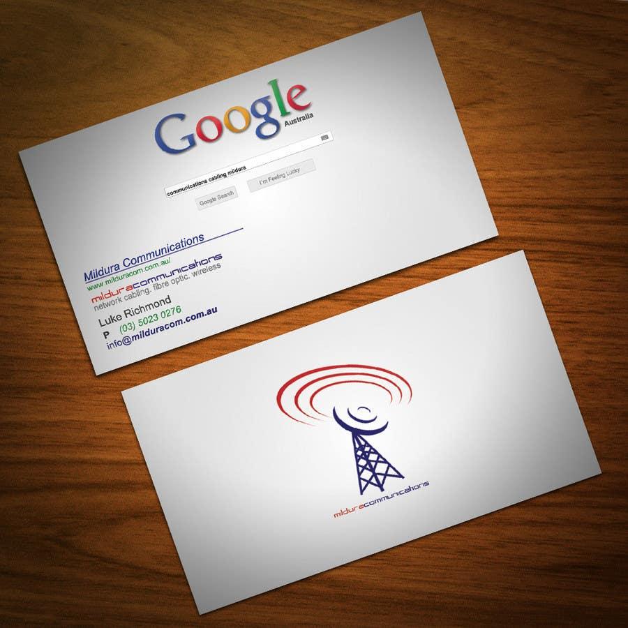 Penyertaan Peraduan #24 untuk Business Card Design for Mildura Communications