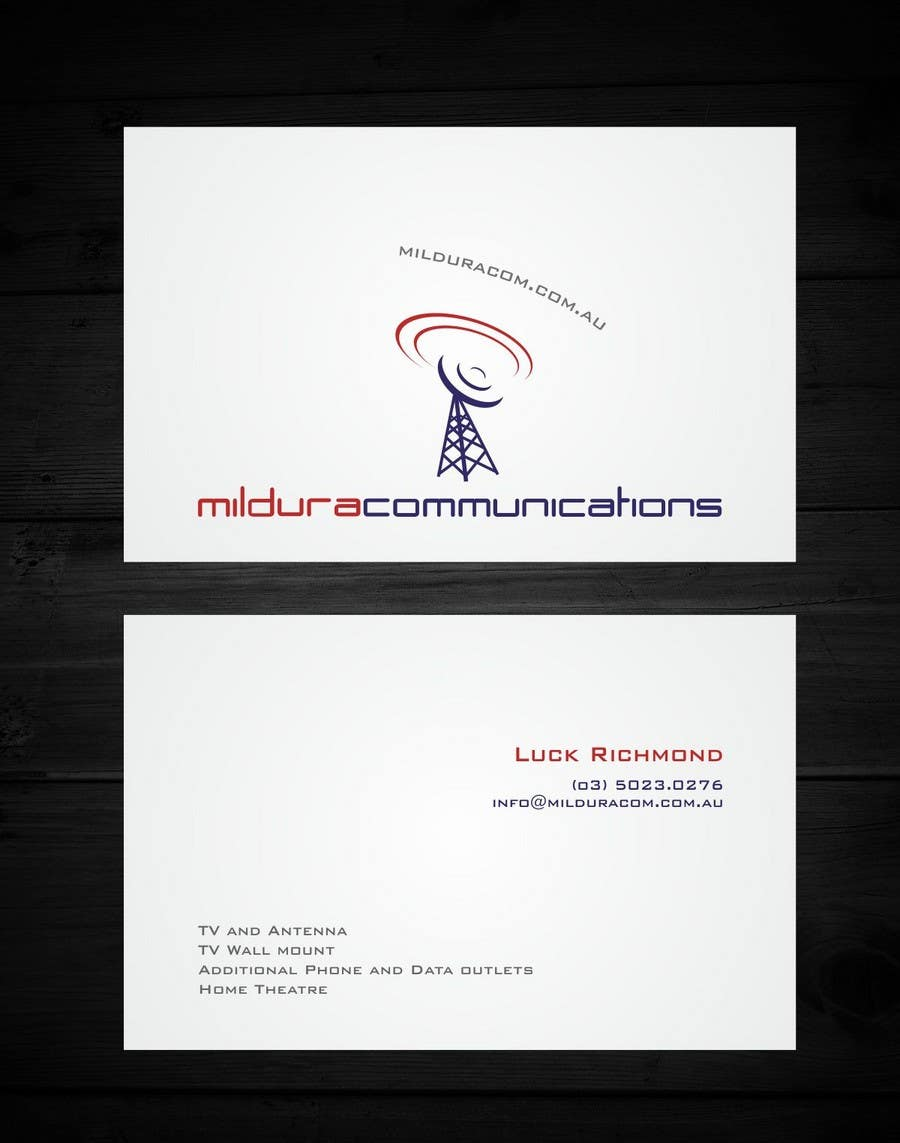 Конкурсная заявка №20 для Business Card Design for Mildura Communications
