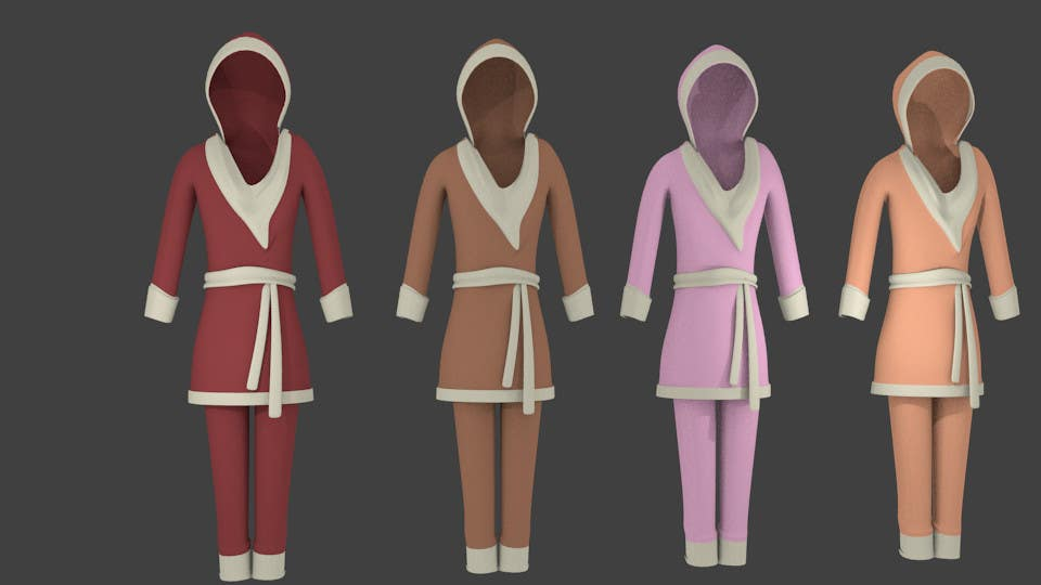 Contest Entry #6 for Design some Fashion for jumpsuit in 3D
