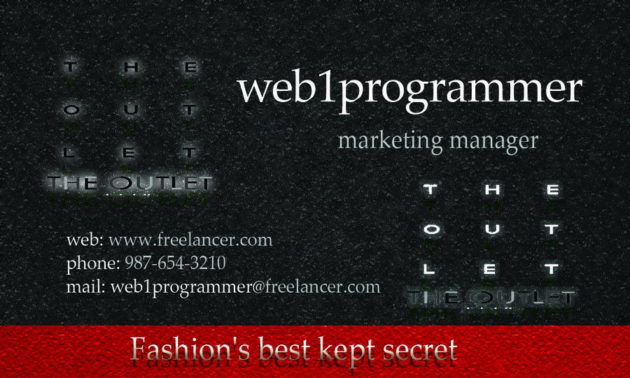 494247c79e54f2 Contest Entry  24 for Business Card Design for The Outlet Fashion Company