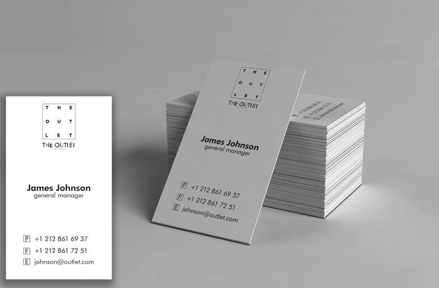 Penyertaan Peraduan #                                        70                                      untuk                                         Business Card Design for The Outlet Fashion Company