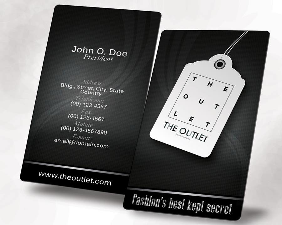 Contest Entry #44 for Business Card Design for The Outlet Fashion Company