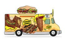 create Sticker for a food mobile truck it has to be a turkish Doner and Grill theme contest winner