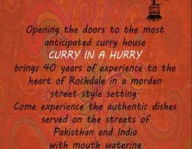 Nro 25 kilpailuun Design a Brochure(A4 FOLDED)  FOR Curry Hurry käyttäjältä UmaGuru