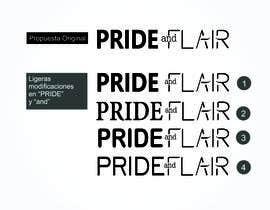 Nro 103 kilpailuun Diseñar un logotipo para la marca de ropa femenina Pride and Flair käyttäjältä Eve17