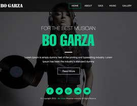 webmastersud tarafından Design a Website Mockup for a Country Musician için no 18