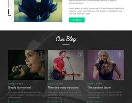 #36 for Design a Website Mockup for a Country Musician af webmastersud