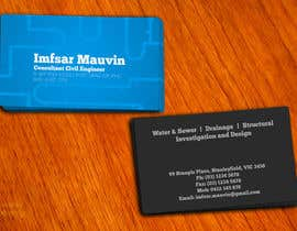 #63 untuk Design some Business Cards for Imfsar Mauvin oleh amitpadal
