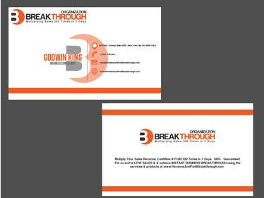 rraja14 tarafından Develop a Corporate Identity for BREAKTHROUGH ORGANIZATION için no 109