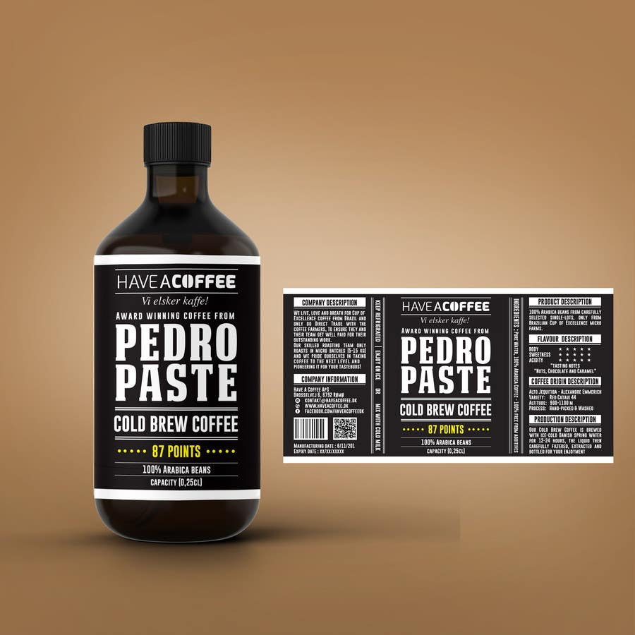 Kilpailutyö #25 kilpailussa Label design for a bottle (Cold brew coffee)