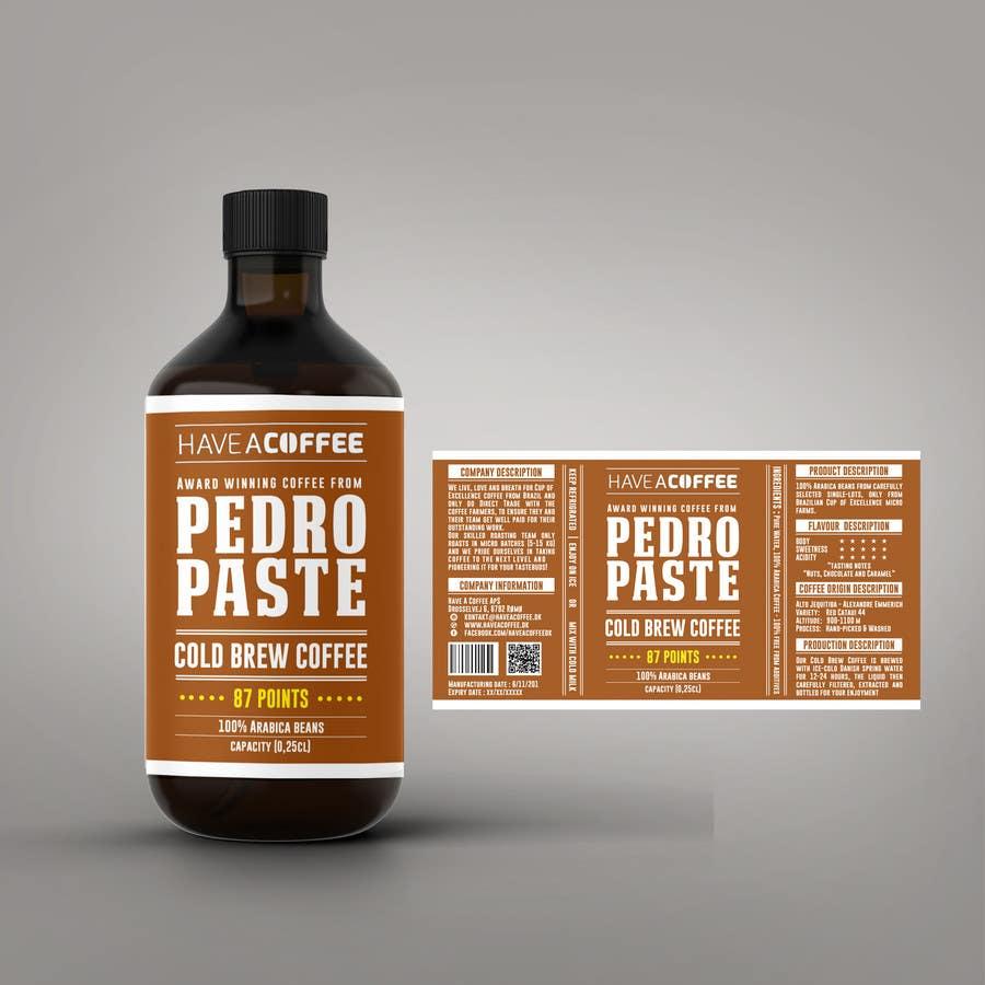 Kilpailutyö #26 kilpailussa Label design for a bottle (Cold brew coffee)