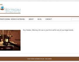 nº 4 pour Build a Website for Roy Hadavi, Attorney-At-Law par benfoulger