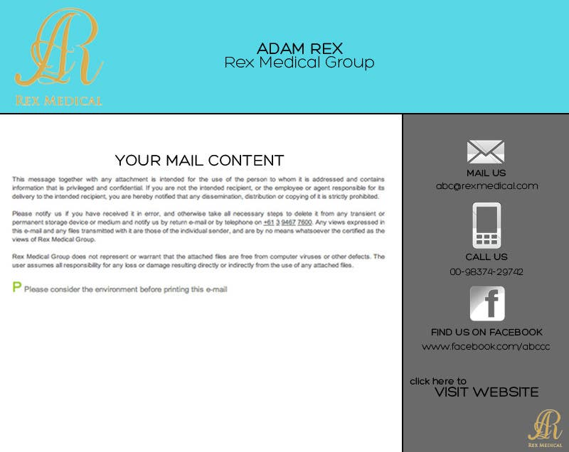 #19 for Design email signature (gmail being used) by pratz2014