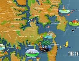 Nro 9 kilpailuun Illustrate Map of Sydney with cartoon like elements käyttäjältä aneeshate