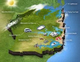 Nro 13 kilpailuun Illustrate Map of Sydney with cartoon like elements käyttäjältä bulletirde