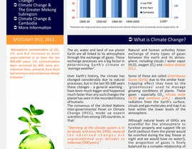 nº 22 pour Design a Info-Bulletin template for a climate change & agriculture awareness-raising par barinix