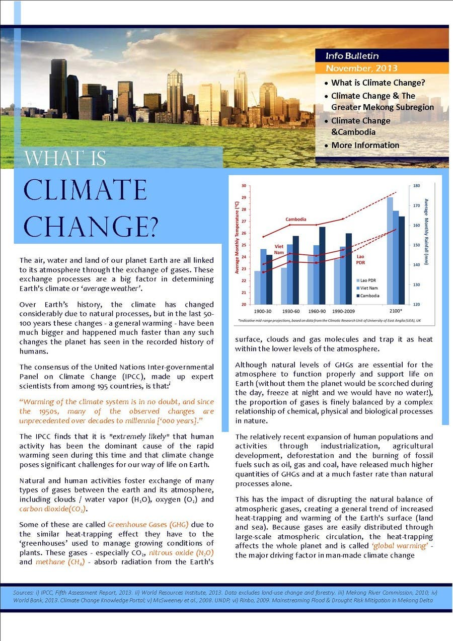 #26 for Design a Info-Bulletin template for a climate change & agriculture awareness-raising by PranjalIshti