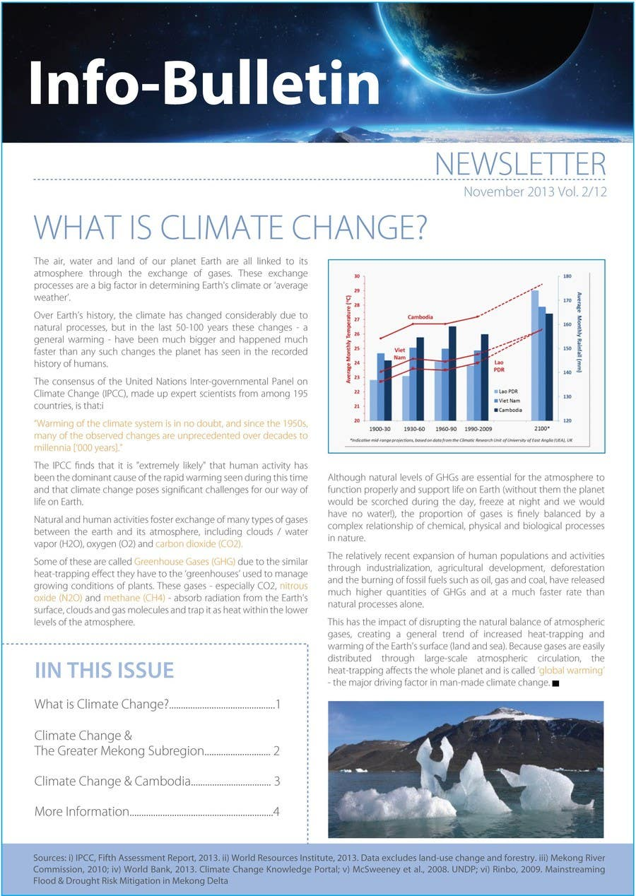 #21 for Design a Info-Bulletin template for a climate change & agriculture awareness-raising by amcgabeykoon