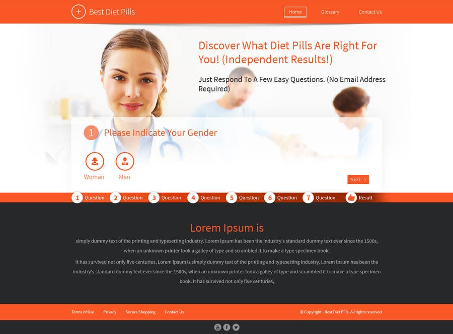 #27 for Design a Website Mockup for Weight Loss Website by tania06