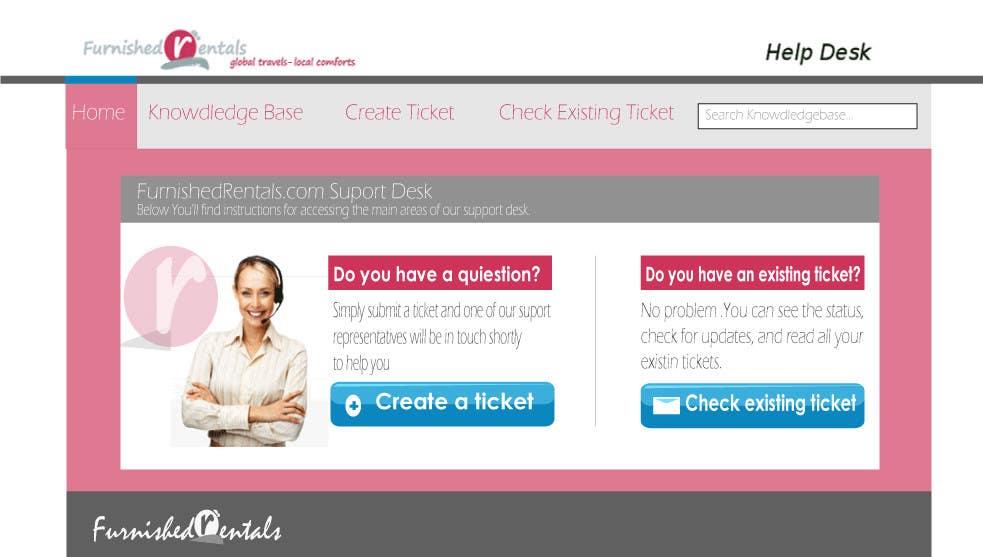 Penyertaan Peraduan #                                        3                                      untuk                                         Design a Website Mockup for simple help desk page