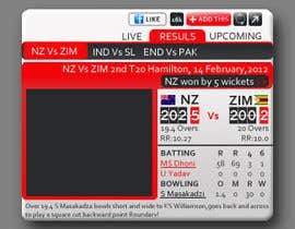 #24 para Graphic Design for Cricket Widget redesign por Anamh