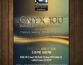 Nro 16 kilpailuun Design a Flyer- Onyx 100 Honoree Reception käyttäjältä boris03borisov07