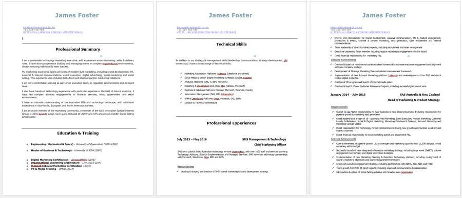 Contest Entry 5 For Design Update A Resume