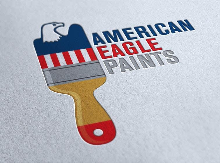 Kilpailutyö #35 kilpailussa Design a Logo for AMERICAN EAGLE PAINTS