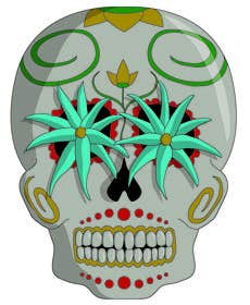 #42 for Day of the Dead - Sugar Skull Design / Cartoon / Illustration by JenGuitreau