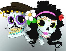 #14 cho Day of the Dead - Sugar Skull Design / Cartoon / Illustration bởi fcontreras86