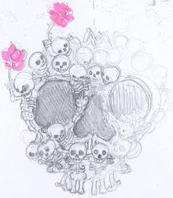 #9 for Day of the Dead - Sugar Skull Design / Cartoon / Illustration by kendor