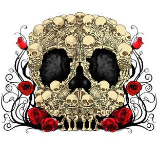 #47 for Day of the Dead - Sugar Skull Design / Cartoon / Illustration by kendor