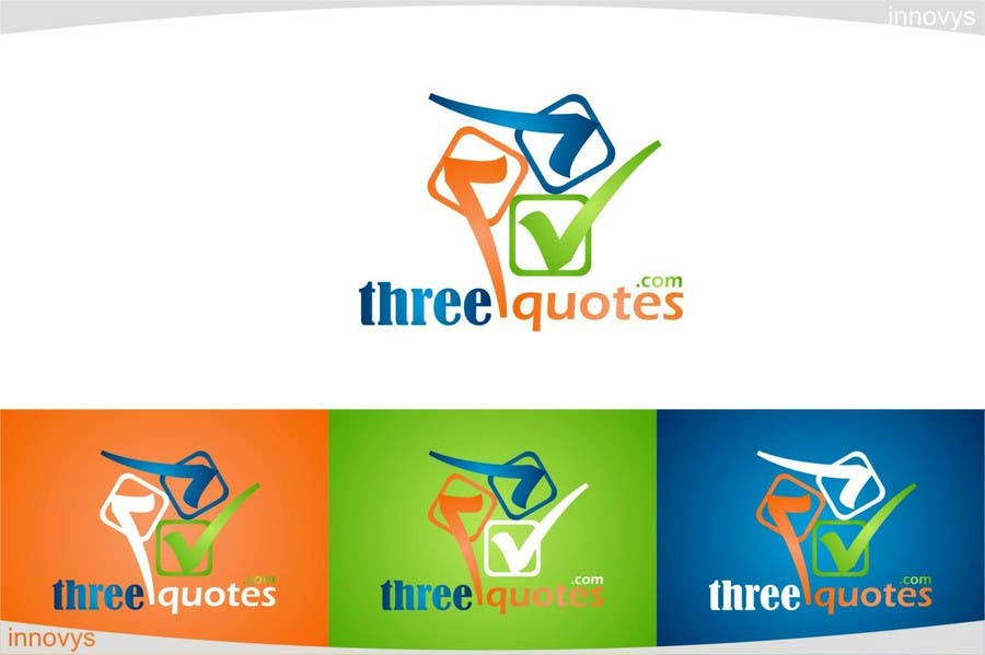 Penyertaan Peraduan #112 untuk Logo Design for For a business that allows consumers to get 3 quotes from service providers