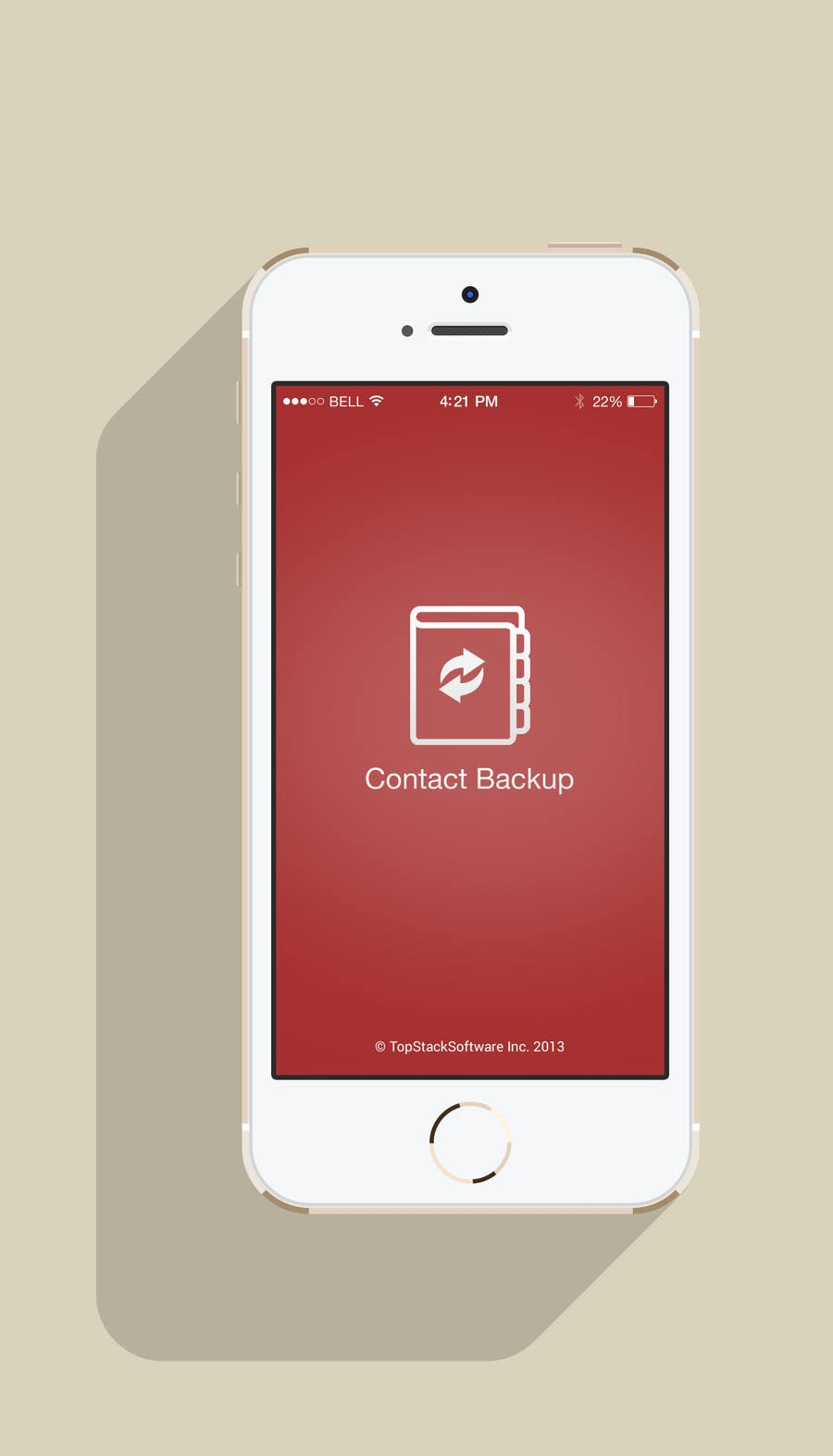 Proposition n°3 du concours Re-Design an App - Contact Backup