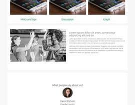 Nro 6 kilpailuun A landing page Mockup in Illustrator käyttäjältä bigprajapat