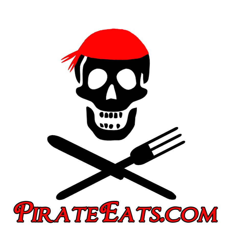 "#5 for Design a Logo for ""Pirate"" themed food blog. Argggh! by SarahLee1021"