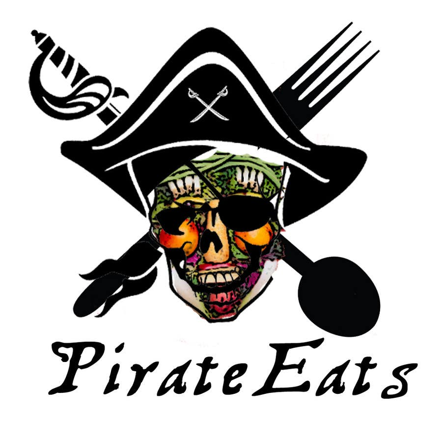 "#7 for Design a Logo for ""Pirate"" themed food blog. Argggh! by dejassekar"