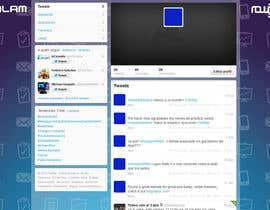 #14 untuk Design a Twitter background for oleh MaryorieR