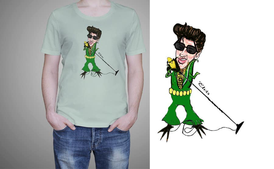 Penyertaan Peraduan #19 untuk Elvis as Corn T-Shirt