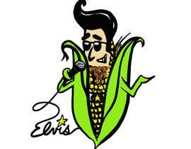 #9 for Elvis as Corn T-Shirt af agvik92