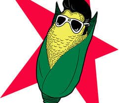 #8 para Elvis as Corn T-Shirt por seiji21
