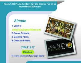 Nro 5 kilpailuun JULY PROMO POINTS REWARD - DINE42 EMAIL FLYER CREATION käyttäjältä SelectiveDA