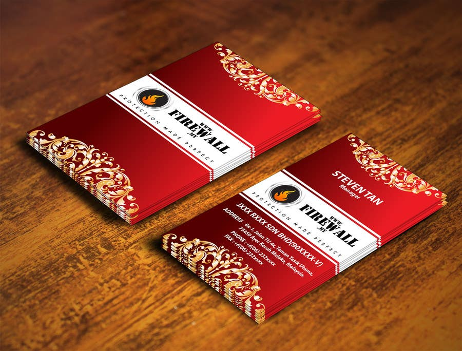 #22 for Design some Business Cards for firewall by pointlesspixels