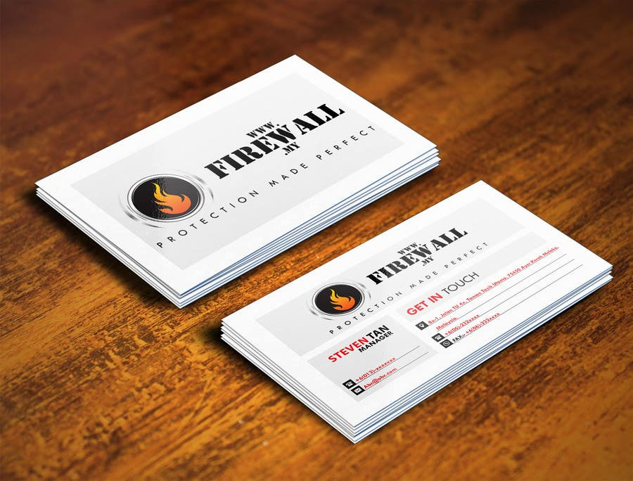 #26 for Design some Business Cards for firewall by pointlesspixels