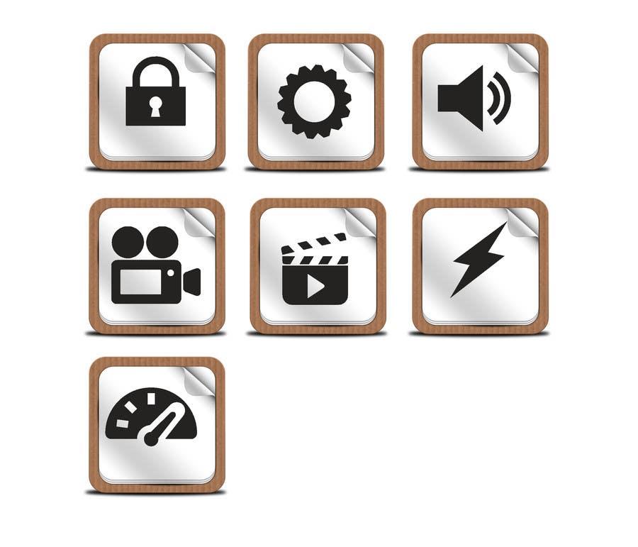 Kilpailutyö #5 kilpailussa Design some Icons for smartphone app tiles