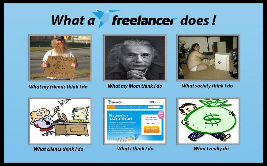 Contest Entry #97 for Graphic Design for What a Freelancer does!
