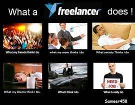 sameer458 tarafından Graphic Design for What a Freelancer does! için no 153