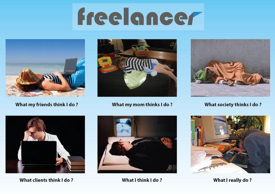 Contest Entry #112 for Graphic Design for What a Freelancer does!
