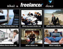 #166 untuk Graphic Design for What a Freelancer does! oleh Hatembenarfa